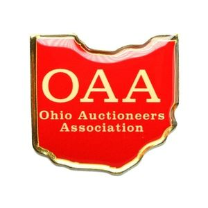 Jewelry - Ohio Auctioneers Association State Outline Lapel